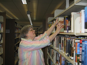 volunteer shelving books
